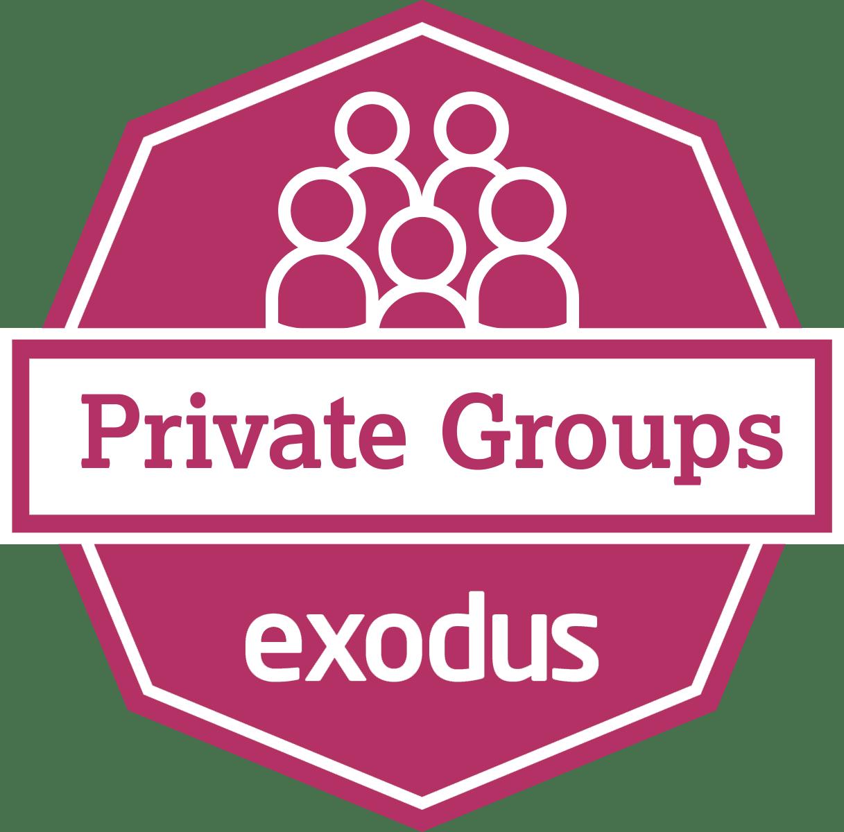 Exodus Private Groups Badge